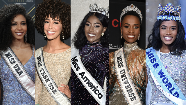 Black Women Now Hold Crowns in 5 Major Beauty Pageants